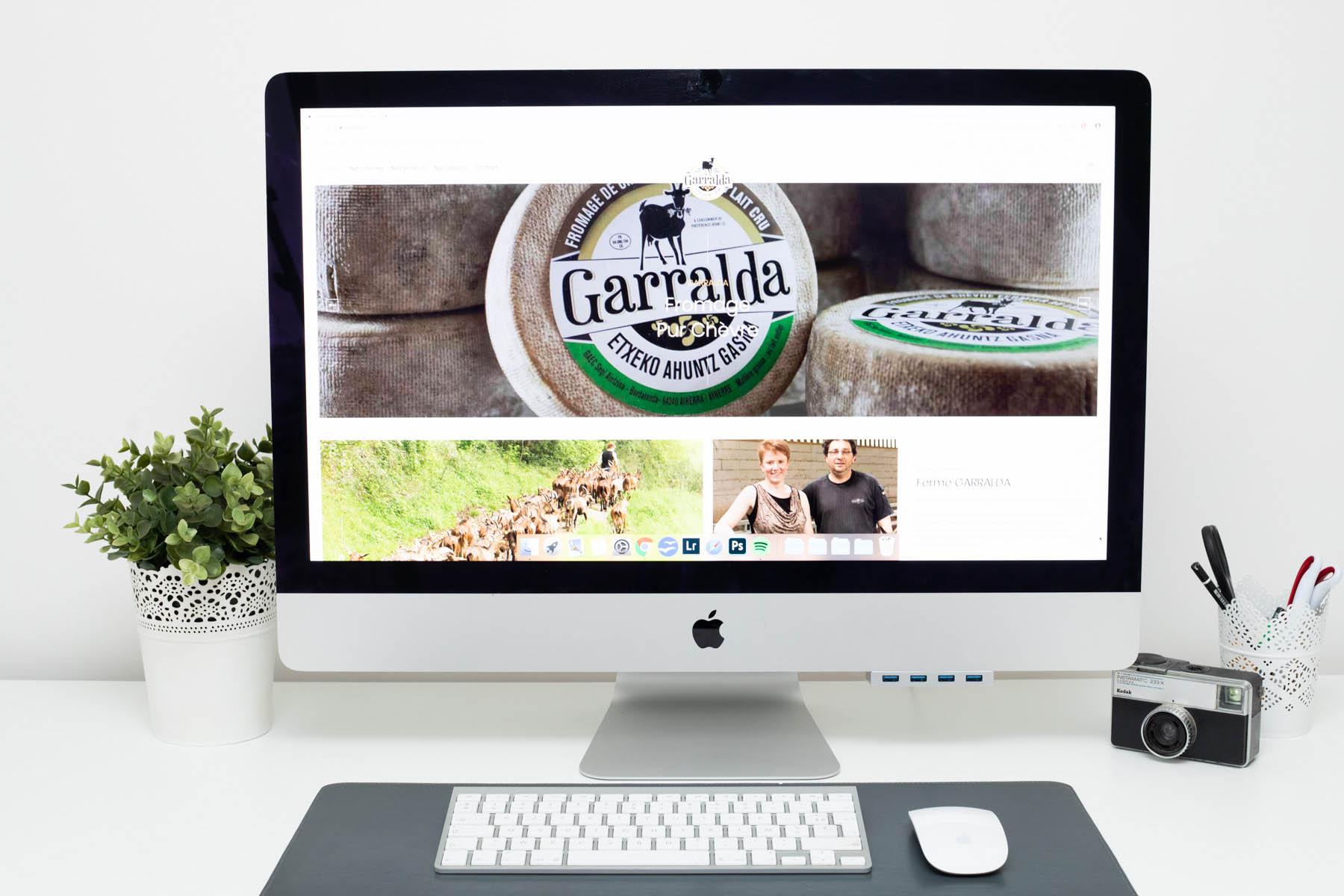 capture d'écran du site internet de la ferme garralda au pays basque par Carole photo